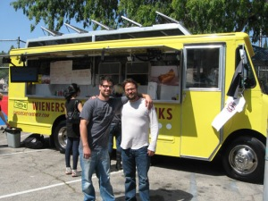 Adam and Josh Dragotta Greasy Weiner Los Angeles Food Truck