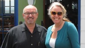 Micheal Jordan and Virginia Ginsburg Beachcomber at Malibu Pier